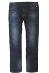 Jeans i sej vask og store lommer foran