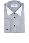 Lækker langærmet skjorte fra Bosweel. Hvid flip og sorte knapper
