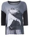 T-shirt med print og 3/4 langt ærme fra Cassiopeia