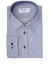 Lækker skjorte fra Bosweel med striber også på indersiden af kraven og manchet
