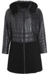 Lækker vatteret frakke fra Frandsen, smart taljeret model, der kan justeres med bindebånd
