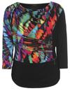 Flot bluse fra Tia i multicolor med 3/4 langt ærme