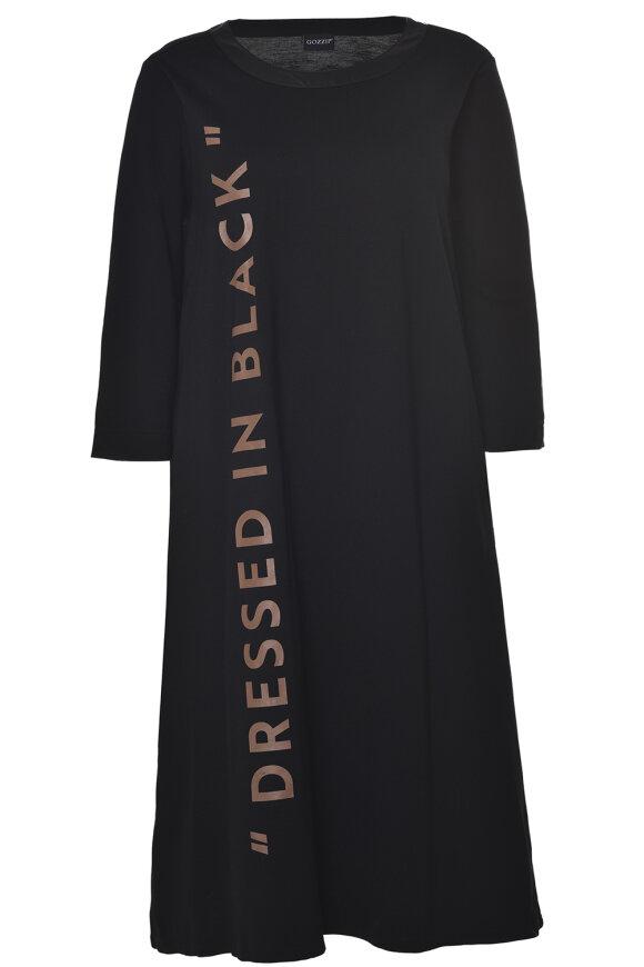 Gozzip Black - Kjole, mellemlang